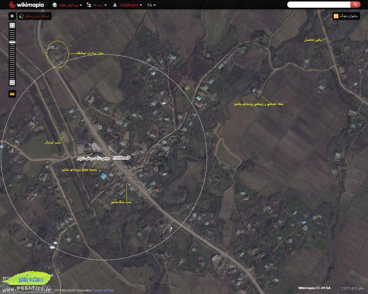 نقشه روستای پشتیر